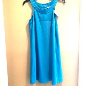 H&M - women's dress cocktail midi turquoise blue